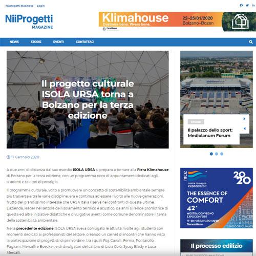 Nii Progetti - Il progetto culturale ISOLA URSA torna a Bolzano per la terza edizione